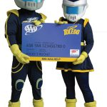 Rocky and Rocksy with AAA card